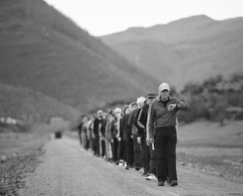 Jean Marc Manson. Caminata Hamish Fulton en Rianyo- Fundacion Cerezalez